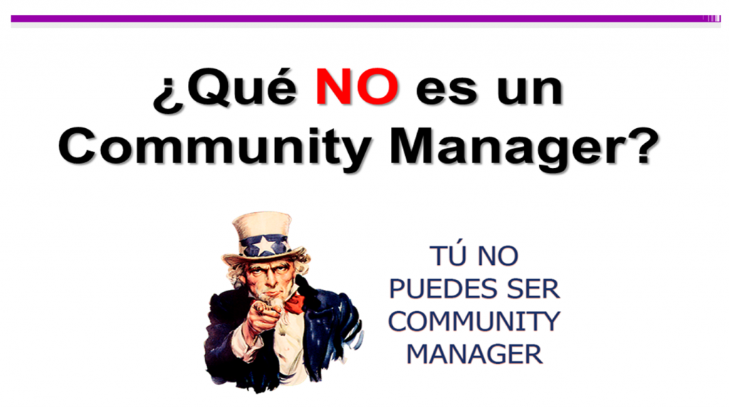 no community manager