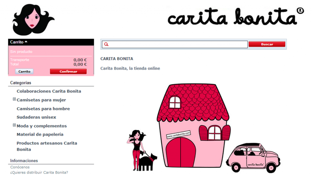 tienda online- carita bonita- ilike community manager