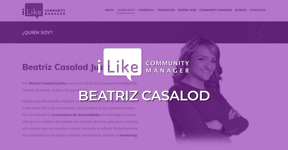 Beatriz Casalod · iLike Community Manager